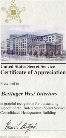 Bettinger West Interiors Inc Baltimore Md Awards